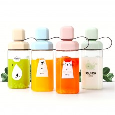 Plastic Water Bottle for Students, Girls, Children, Leakproof Drinking Bottle with Light Weight, Portable Water Bottle for Outdoors, Drinking Bottle with Cute Patterns