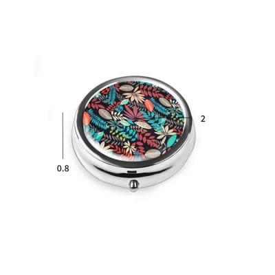 Portable Mini Portable Pill Box, Colorful Unique Pattern Storage Case for Health Care Product