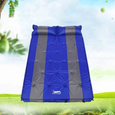Double Automatic Inflatable Picnic Sleeping Mat with Pillows, Water Resistant & Cold Protection Sleeping Cushion