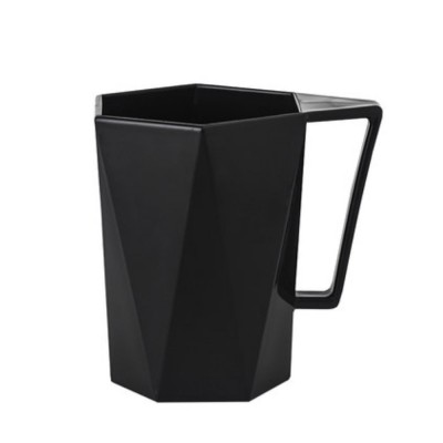 Stylish Geometric Cup with Handle for Toothbrush Simple Household Water Cup Couple Style Cup Plastic Cup