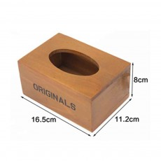 Environmentally Friendly Ink Printing Vintage Wood Tissue Box, Wooden Paper Towel Storage Container, Home, Office, Shop Essential