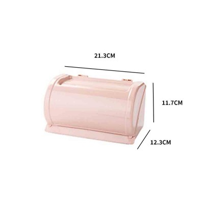 Punch-free Toilet Tissue Box, High-quality ABS Waterproof Roll Paper Container, with Grooved Top Lid Design