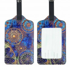 Colorful Special Pattern Luggage Tag, Selected PU Material Baggage Card for Traveler