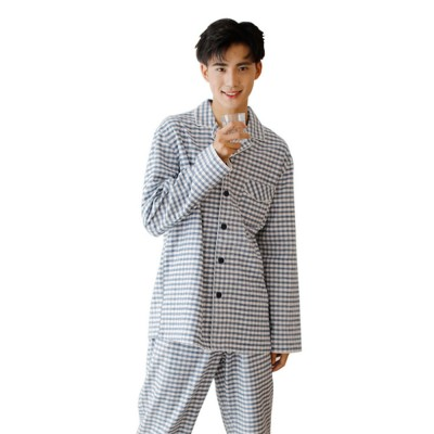 Pajamas Set for Men, Middle Age, Aged, Elderly, Long Sleeve Pajama for Autumn and Winter, 100% Cotton Homewear Set, Sleepwear Set