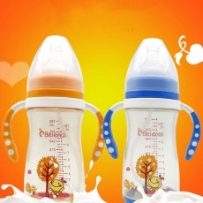 300ml Baby Bottle with Handle, Wide Diameter PPSU Baby Bottle, Anti-dropping and Anti-flatulence Baby Bottle