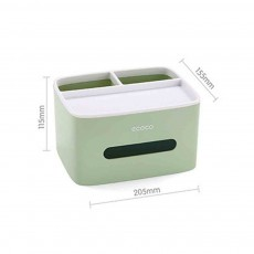Creative Desktop Storage Tissue Box, Multifunctional Practical Simple Container, with Double Layer Storage Design
