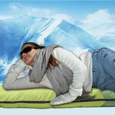 Adult Envelope Sleeping Bag for Hiking, Camping, 4 Seasons, Lightweight Warm Hollow Cotton Sleeping Bag