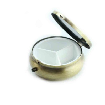 Metal Alloy Mini Portable Small Pill Box, Jewelry Storage Container, with a Variety of Unique Pattern