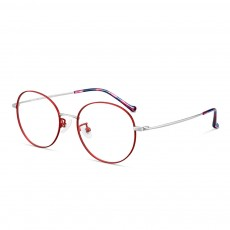 Light Vintage Minimalist Casual Snow Paint Round Glasses Frame with Fashionable Flower Model Legs Comfortable Nose Pad