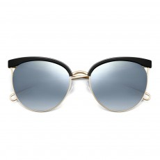 Stylish Minimalist Casual Cat Eye Model Women Sunglasses Polarized Round Frame UV Protection Glasses for Ladies