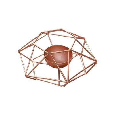 Nordic Geometric Wrought Iron Candlestick Creative Home Bedroom Room Decoration Shooting Props Romantic Candle Holder