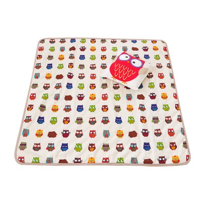 Crawling Mat for 0-2 Year's Old Baby Cute Pattern Quadrilateral Ground Mat Non-slip Hand and Machine Wash Tent Cushion