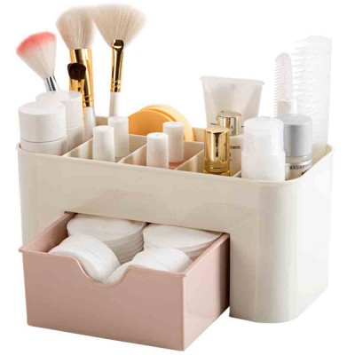 Cosmetic Make Up Organizer Display Table Desktop Storage Stand Saving Space Makeup Drawer Type Storage Box Case Holder Brush Pen Jewelry Organizer