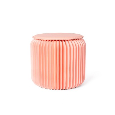Waterproof Kraft Stool for Ladies Foldable Portable Kraft Stool with High Load Bearing Capacity Coral Pink