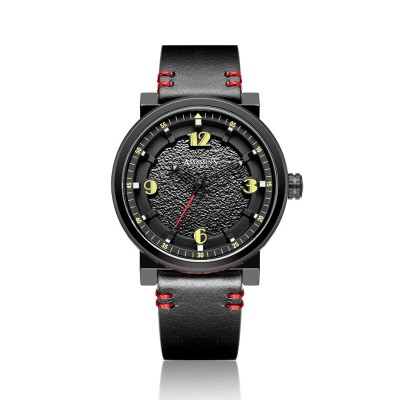 Minimalist Stylish Casual Sports Wrist Watch with Leather Strap Waterproof Watch Quartz Watch for Men Women
