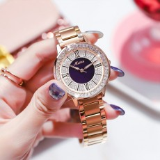 MEIBIN Multifunctional Watch for Women Luxury with Accented Crystal Dial and Steel Strap Waterproof