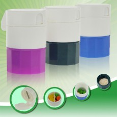 3 In 1 Pill Cutter Crusher and Storage Multi Function Pill Splitter Cutter Powder Organizer for Daily or Travel Use