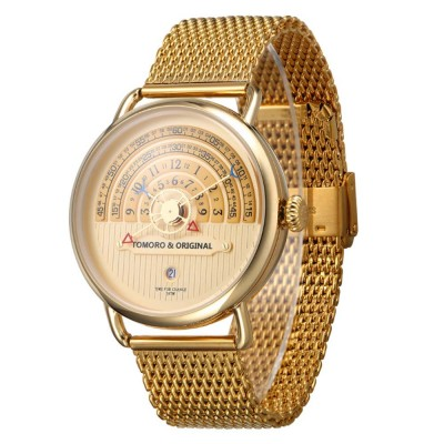 High-grade Full Gold Men's Watch Time Epoch Reincarnation Watch Creative New Concept Large Dial Gold Wristwatch