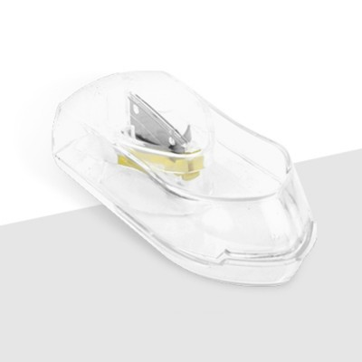 Pill and Tablet Cutter with Room for Storing Medication, Transparent Pill Cutter with Stainless Steel Blade