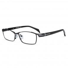Prescription Optical Reading Eyeglasses Frame for Men Business Ultra Lightweight Pure Titanium Frame Silicone Nose Pads