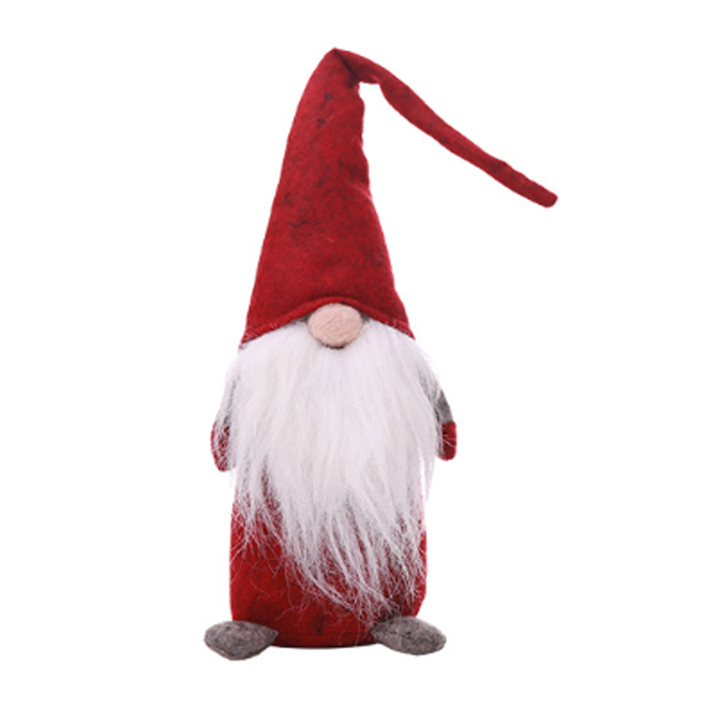 Christmas Old Man Faceless Stand Doll Toy Festival Dinner Party Decorations for Home Kids Xmas Gifts Cotton Santa Claus Doll Standing