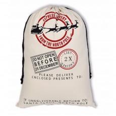 Cheap Recycled Reusable Plain White Organic Calico Cotton Canvas Christmas Drawstring Gift Bags Storage Bag