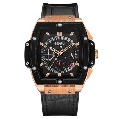 Multi-functional Waterproof Men Business Quartz Stainless Steel Leather Silicone Outdoor Sports Watch Trendy Large-dial Men's Watch