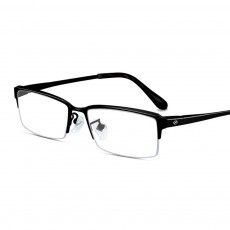 Plating Eyewear High Quality Men Business Half Frame 100% Pure Titanium Frame Glasses Optical Frame