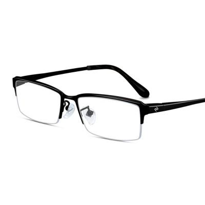 Plating Eyewear High Quality Men Business Half Frame 100% Pure Titanium Frame Glasses Optical Frame