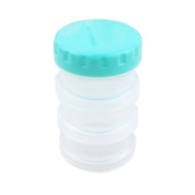 Moisture-Proof & Anti-oxidation Portable Medicine Box Set with 3-compartment, Mini Round Bottle of Protein Powder