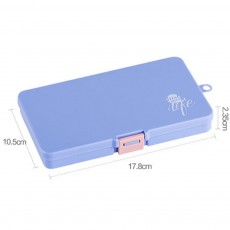 5 Day Weekly Pill Organizer, 15 Slots Large Portable Weekly Pill Case with Movable Partition for Travel Use