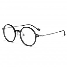 Thin Frame Flat Mirror Glasses Metal Fashion Eyeglass Round Frame Personality Trend Eye Glass Retro Glasses