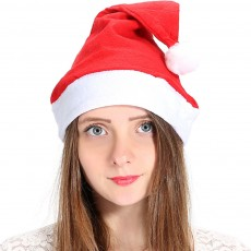 New Manufacturers Wholesale Children's Adult Santa Claus Hat General Non-woven Christmas Decorations Hats