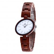 Women Watches Elegant Wood Band Stainless Steel Quartz Wrist Bamboo Watch With Waterproof Wristwatch For Ladies Girls