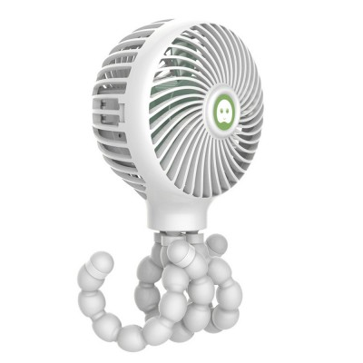 Octopus Fan for summer, Protection Mechanism Spiral Design Holding Fan, A Variety of Forms Three Wind USB Small Fan