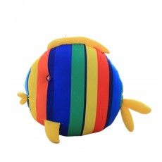 Cute Colorful Striped Fish Model Cushion, Soft Plush Car Household Sofa Bolster Car Pillow