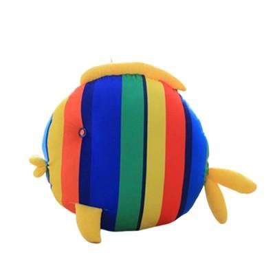 Cute Colorful Striped Fish Model Cushion, Soft Plush Car Household Sofa Bolster Car Pillow