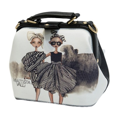 Fashion Stylish Painting Women Shoulder Bag with Handle, Large Capacity Soft PU Leather Bag for Ladies
