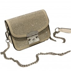 Fashion Fancy Shiny Lady Shoulder Bag with Rivet Decoration, Ultra-smooth PU Leather Chain Bag for Women