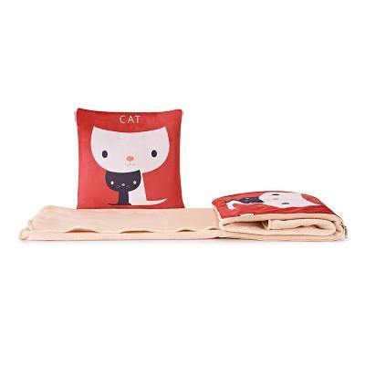 Cute Carton Painting Amphibious Dual-purpose Multifunctional Coral Fleece Blanket Office Car Waist Protection Cushion