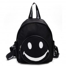 Cute Carton Smile Face Painting Children Backpack, Small Outdoors Traveling Shoulders Bag for Boys Girls