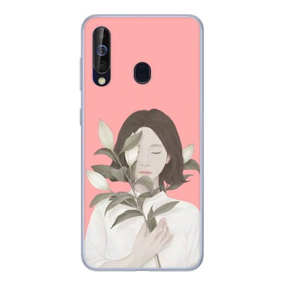 Cute Stylish Cartoon Painting Samsung Galaxy A60 Phone Case, Soft Flexible Breaking-proof TPU Samsung Phone Protective Cover