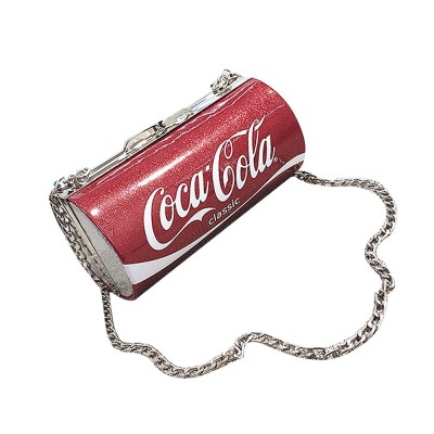 Cute Creative Coca-Cola Sprite Can Lady Shoulder Bag, Tough PU Creative Letters Decoration Small Cross-body Bag for Women