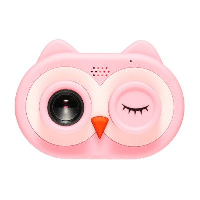 Cute Animal Model Mini Digital Camera for Children WIth Breaking-proof Silicone Shell 16G 1200W HD Pixel 2.0 inch Video Recorder Birthday Present