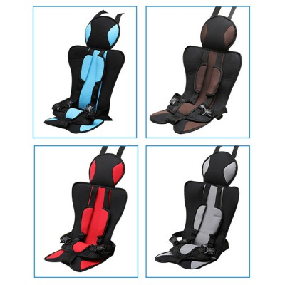 Simple Installation Comfortable Child Safety Seat, Foldable Soft Car Safety Seat for Kids with Five-point Buckle