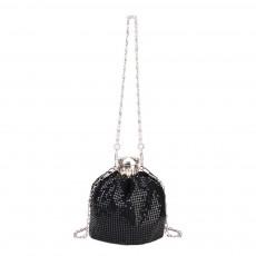 Creative Shiny Aluminum Slices Kettle Model Lady Shoulder Bag, Fashion Stylish Wine Pot Jar Hand Bag for Women