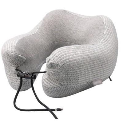 Slow Rebound Memory Foam U-Shaped Soft Pillow, Functional Office School Noon Break Pillow with Adjustable String Buckle