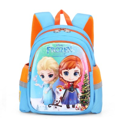 Cute Frozen Cartoon Pattern Children Backpack with Prevent Lost Band, Water-proof Oxford Cloth Kindergarten Shoulders Bag for Kids