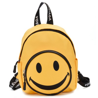 2021 Cute Cartoon Smile Face Painting Children Backpack, Small Outdoors Traveling Shoulders Bag for Boys Girls