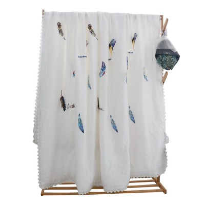 Embroidered Thin Double Summer Quilt Size High Quality Tencel Material Air Conditioning Cool Quilt